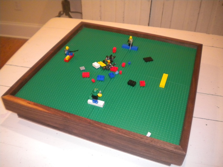 "Lego Play Table with four 10""x10"" baseplates.  Lego Storage table.  Portable lego play station.  Lego Travel Set.. $119.99, via Etsy."