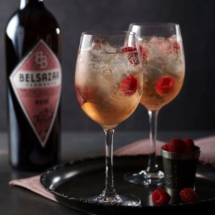 Could this be the new G&T?   Pour Belsazar rose into a long drink/wine glass, add ice cubes and top with tonic. Stir carefully and serve with grapefruit zest.