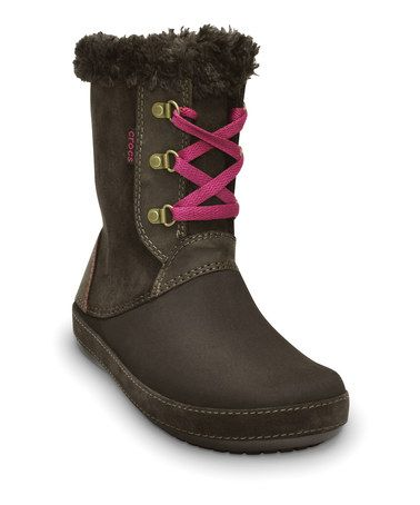 Take a look at this Espresso Berryessa Hiker Boot - Women by Crocs on #zulily today!