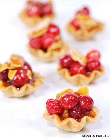 ... Tarts, Dough Recipes, Cranberry Almonds Tarts, Martha Stewart, New