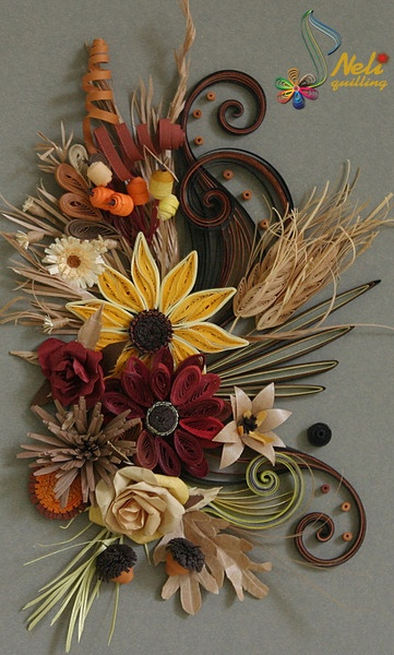 Quilling Fall Flowers