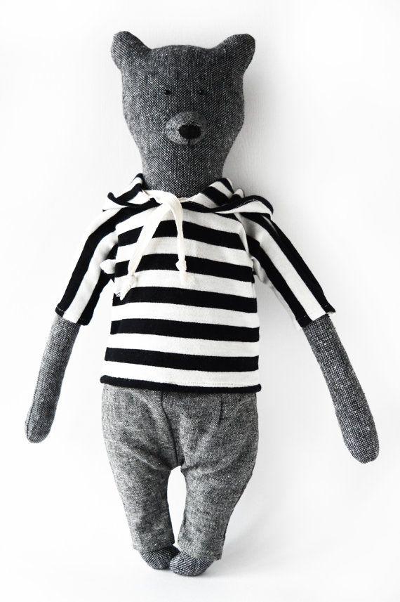 Larry The Bear. Primitive teddy Bear. Child friendly toys. Soft Bear - Best Friend for kids
