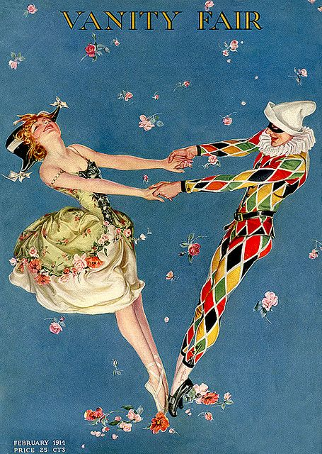 Vintage Magazine Cover- Vanity Fair Masqueraders Feb 1914- amzing and fits Neapolitan theme