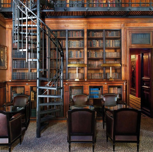 Beautiful Library at the Saint James Hotel in Paris