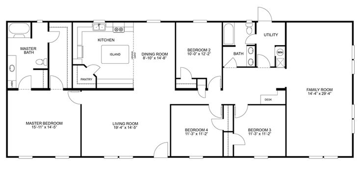 Floorplan SUMMIT 32X80(76) | 29SUM32764CH | Oakwood Homes of Greenville - Greenville, SC