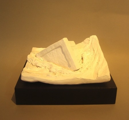 Ben Sheers  Obsolete - 2012  Painted porcelain on hardwood base  23 x 20 x 12 cm