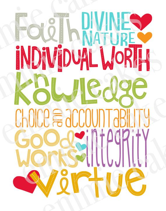 YW Values. So Cute!Decor Ideas, Crafts Ideas, Subway Art, Hands Made, Young Women Values, Gift Ideas, Quote, Yw Values, Handmade Gift