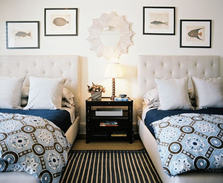 BunnyWilliams: Guest Bedrooms, Headboards, Boys Rooms, Twin Beds, Bunnies Williams, Beaches Houses, Guest Rooms, Twin Rooms, Guestrooms