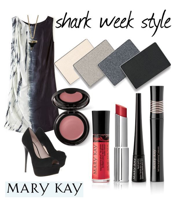 Shark Week is all the rage right now and while we don't like getting close to sharks, we can be inspired by them! Make a splash with this fierce ‪#‎SharkWeek‬ inspired look!
