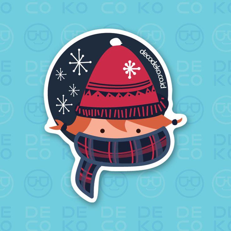 Sticker Winter Girl