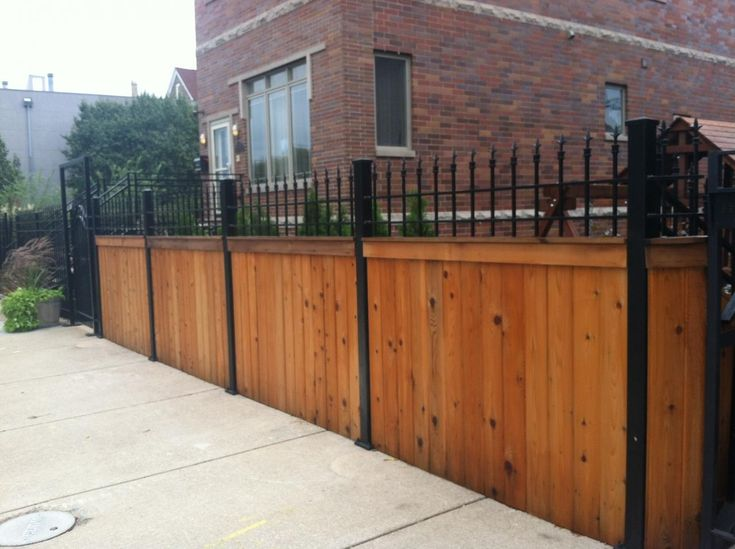 Wood and Wrought Iron Fences   Wood and Wrought Iron Fences