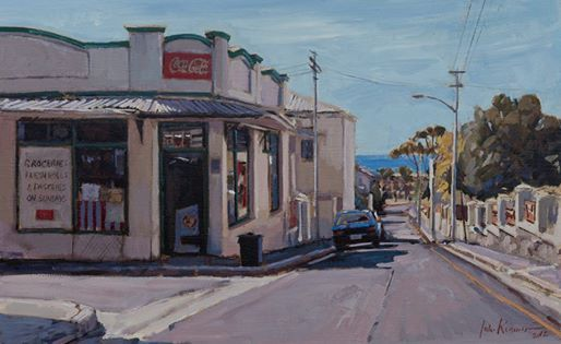 Photo: Green Point, Oil on board, 2012