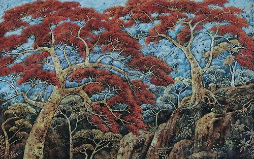 Widayat, Flamboyant Trees, 1975