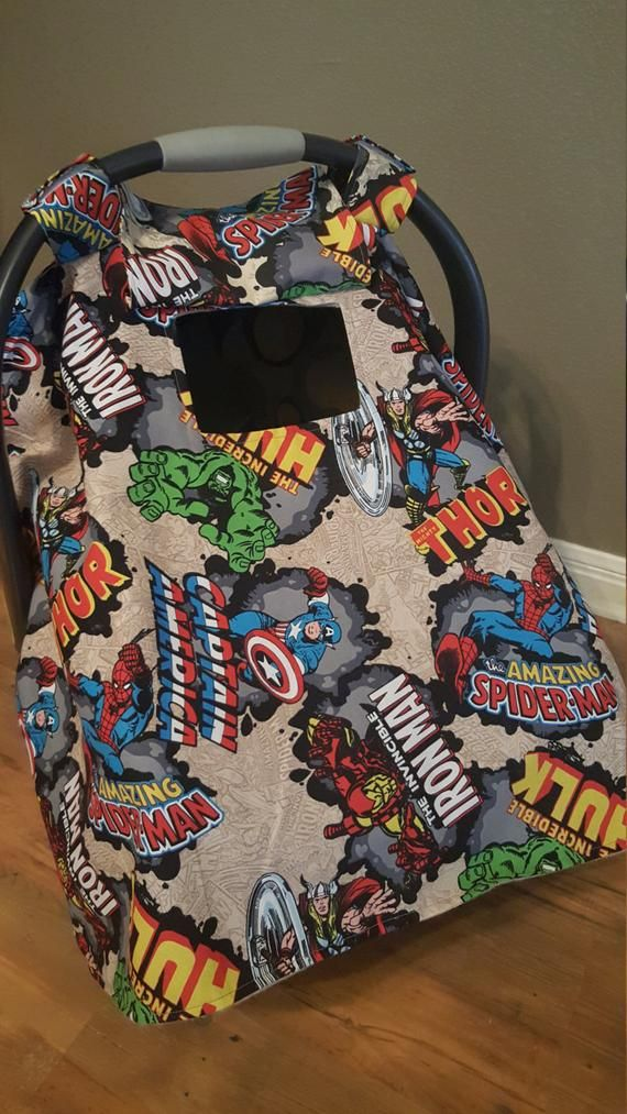 Superhero Infant Car Seat Cover