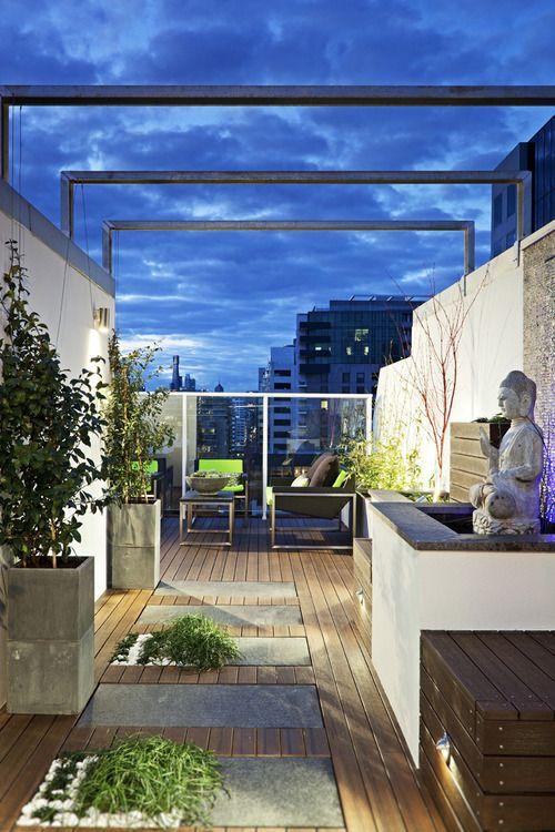 Melbourne rooftop garden