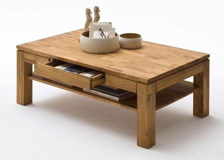 Couchtisch Holz Juliane Wohnzimmertisch Asteiche mit Schublade 5797