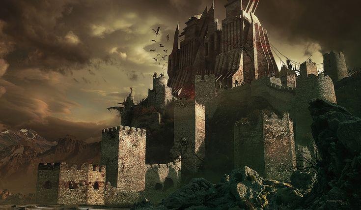 Castle Hell, Aziz Maaqoul on ArtStation at https://www.artstation.com/artwork/1Ba4K