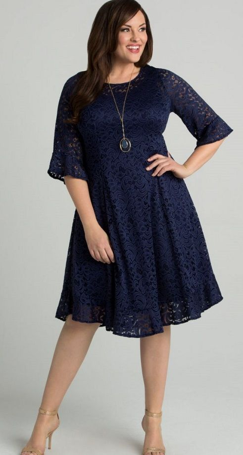 b2c6bd3b4369d Plus Size Lace Dress With Sleeves - Our plus size princess seam lace dress  is designed with a feminine floral lace