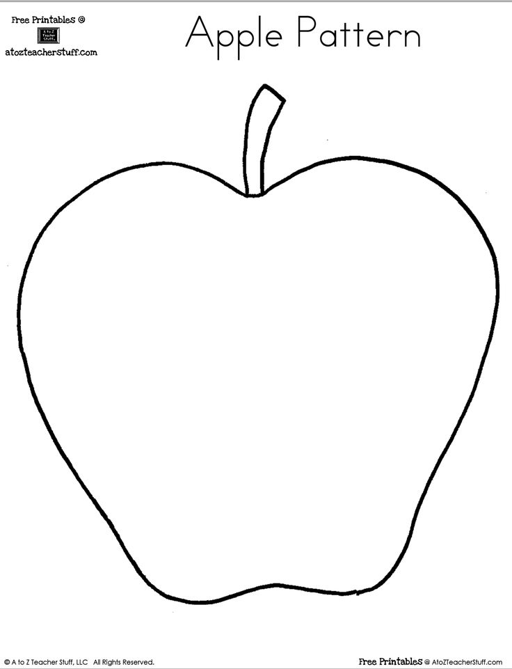 Blank Apple Writing Page or Shape Book {free printable}