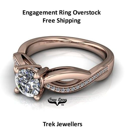 All moissanite engagement rings overstock priced for immediate delivery and free shipping.