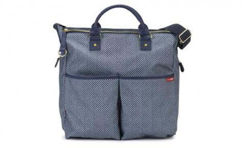 Blue Pinpoint Duo Special Edition Diaper Bag by Skip Hop
