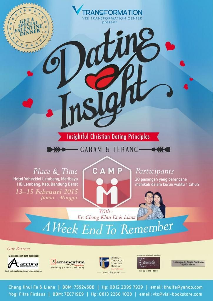 Embedded image permalink Dating INSIGHT mengadakan Camp, khusus buat couple yang mau married, silahkan join.