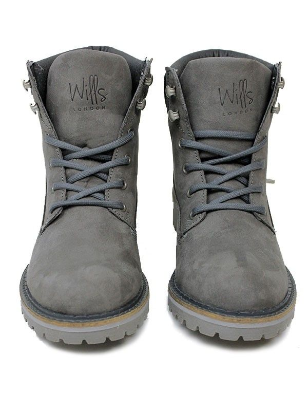 Vegan Vegetarian Non-Leather Mens Dock Boots Grey