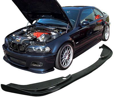 For 2001-2006 BMW E46 M3 H-Style Black Front Bumper Lip Spoiler Poly-Urethane PU