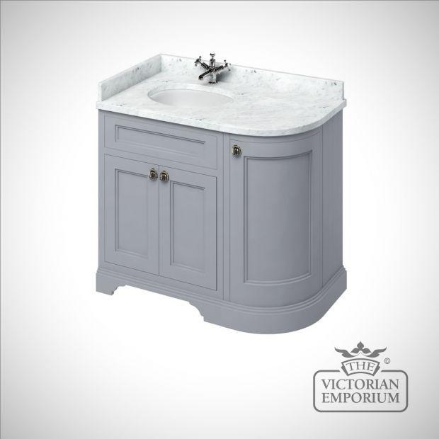 Curved Corner Bathroom Basin Unit With Drawers Corner Vanity Unit Bathroom Basin Units Corner Vanity