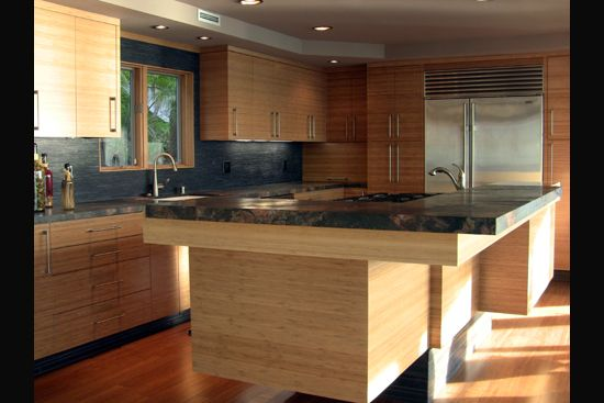 17 best images about kitchen on pinterest solid wood for Bamboo wood kitchen cabinets