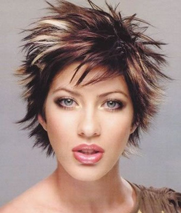 Home Short Beautiful Spiky Short Hairstyles For Women Styles