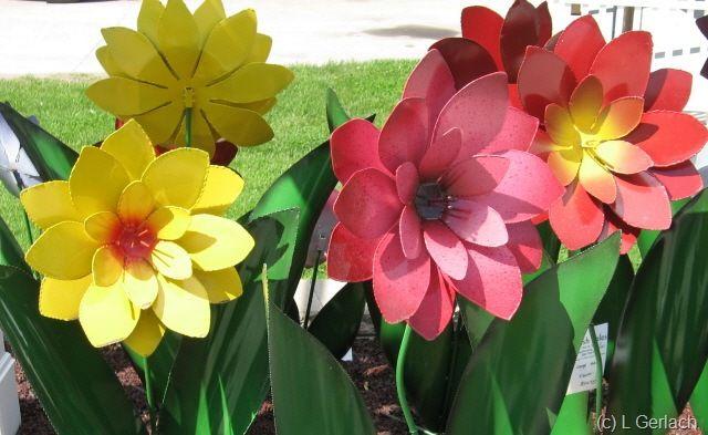 tin flowers