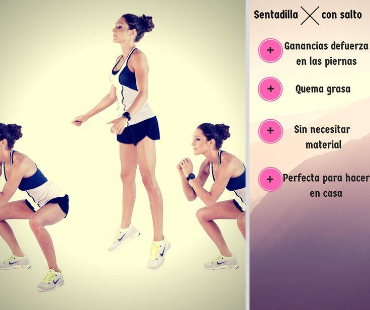 #Sentadilla con salto