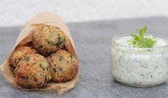 falafels de quinoa sauce tzatziki