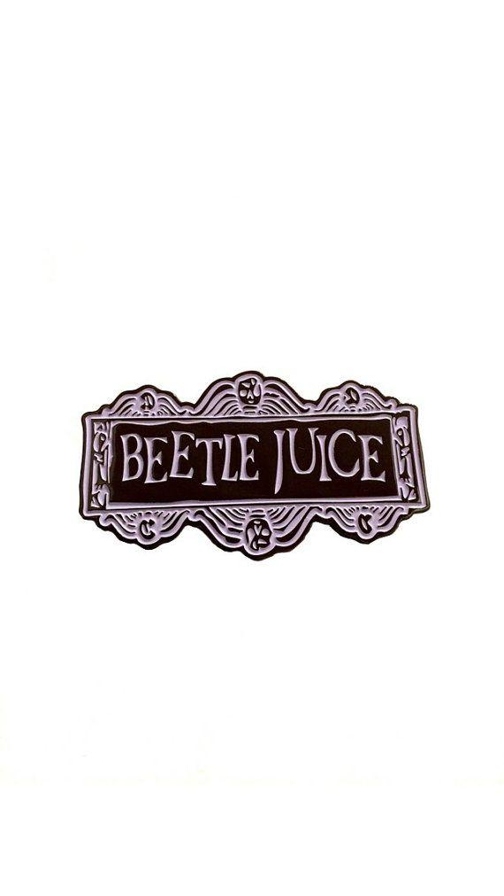 Beetlejuice Beetlejuice Beetlejuice Enamel Pin by hopesick on Etsy