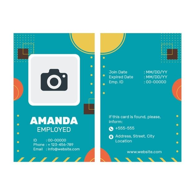 Download Business Id Card Template For Free Id Card Template Card Templates Free Business Card Template