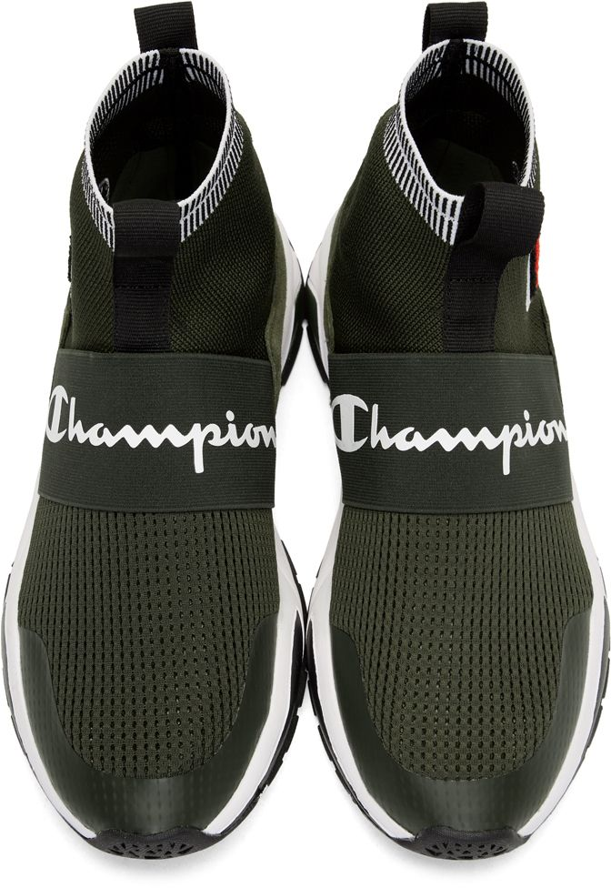 e8cb878c6 Champion Reverse Weave - Green Rally Pro High-Top Sneakers