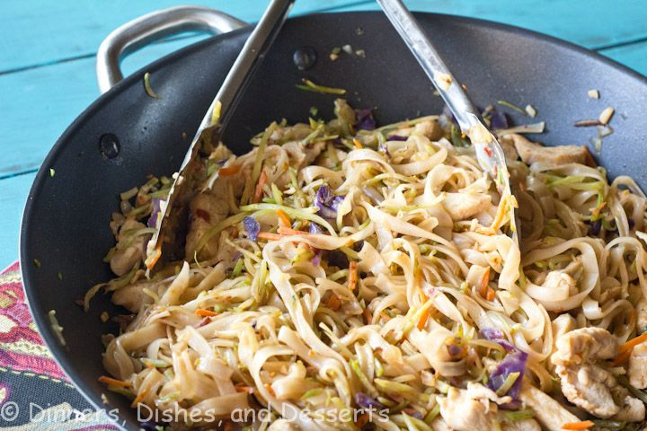 Szechuan Chicken and Noodles    YOU MUST MAKE THIS!!  It's sooo gooooooooooood!  I used frozen stir-fry veggies instead of the broccoli slaw, I really liked it!