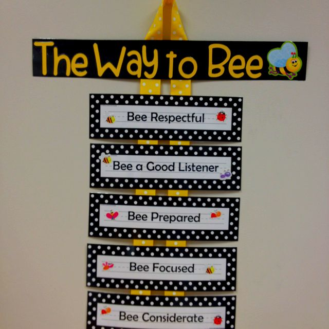 My class rules... The way to Bee!