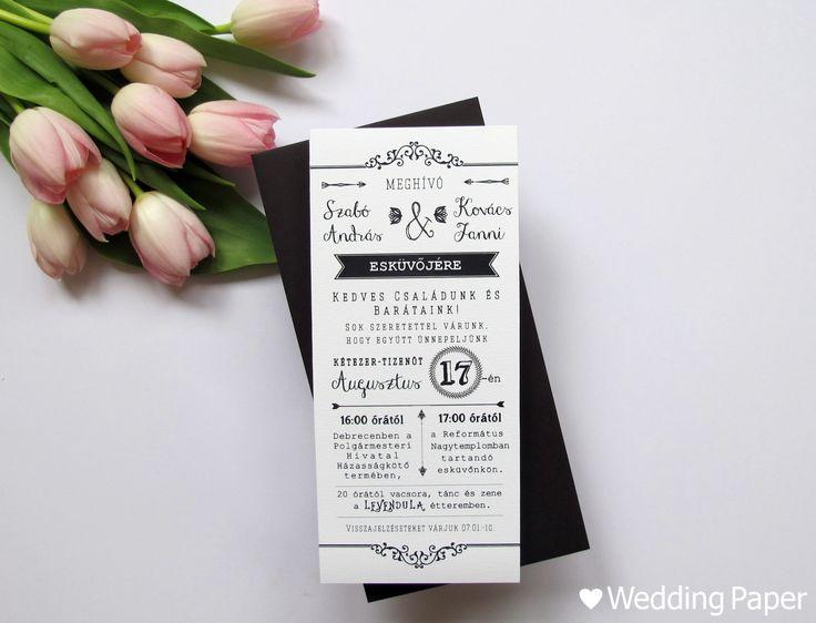 Esküvői meghívó – Vintage I. | ♥ Wedding Paper