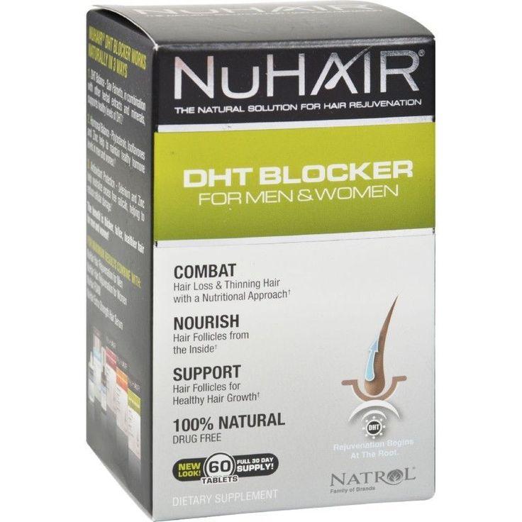 Hair Regrowth Nuhair DHT Blocker For Men & Women Support Formula - 60 Tablets #Natrol