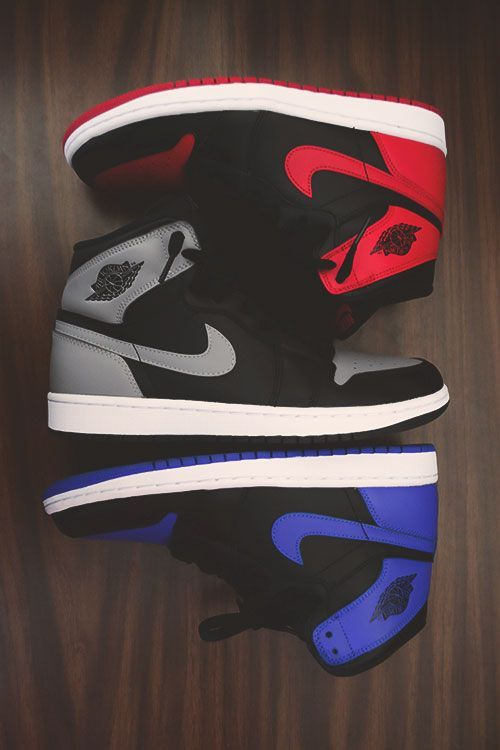 Bred 1s x Royal Blue 1s x Shadow 1s I love the royal blues and Breds wish I had them