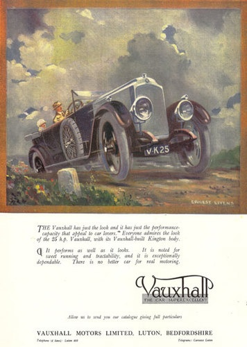 Vintage Vauxhall Motor Car Advertisment