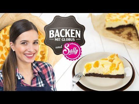 NEU: ❤ Brownie-Käsekuchen mit Mandarinen   Backen mit Globus & Sallys Welt #11 - YouTube