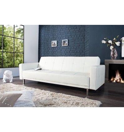 Ce canapé d'angle design et moderne est conçu en simili cuir qui donnera une touche de cocooning à votre intérieur. Son revêtement en simili cuir blanc très ...
