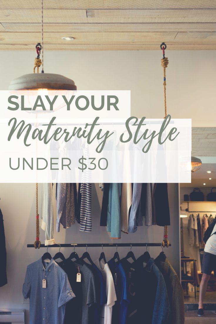 Love the sleek trendy look? On a budget? Check out this post! Cute inexpensive maternity clothes for pregnancy