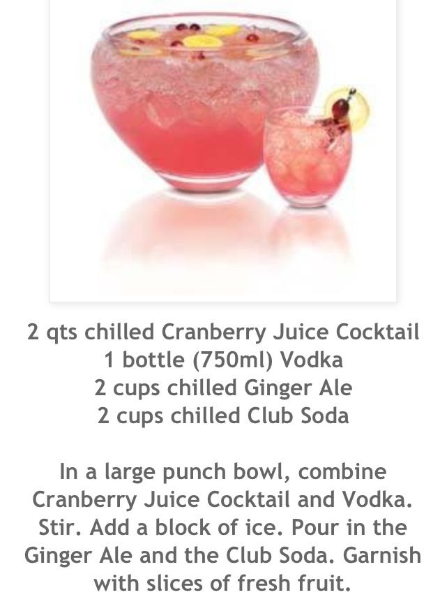 25 best ideas about vodka punch on pinterest cranberry for Easy vodka drink recipes