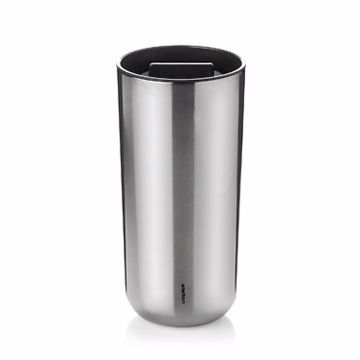 Stelton To Go 2.0  Stainless Thermo Cup 按壓式 冷熱隨行杯 二代 銀色款