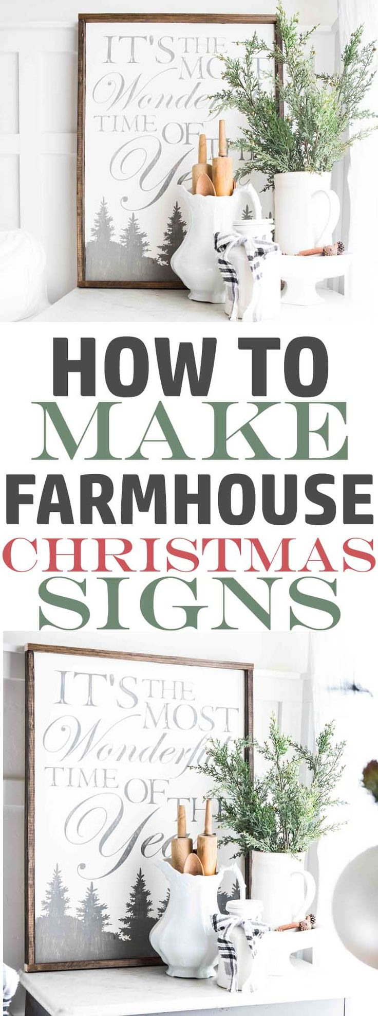 How to make Farmhouse Christmas Sign-How to make painted wood signs-www.themountainviewcottage.net.jpg