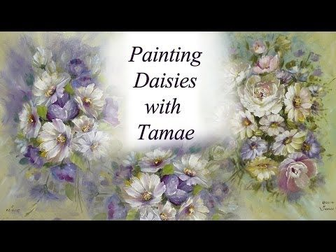 ▶ Painting Daisies with Tamae- Japanese Version - YouTube